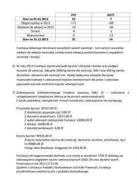 Sprawozdanie Fundacji za rok 2013 s2